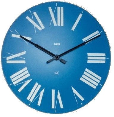 Alessi Clock Firenze Light Blue