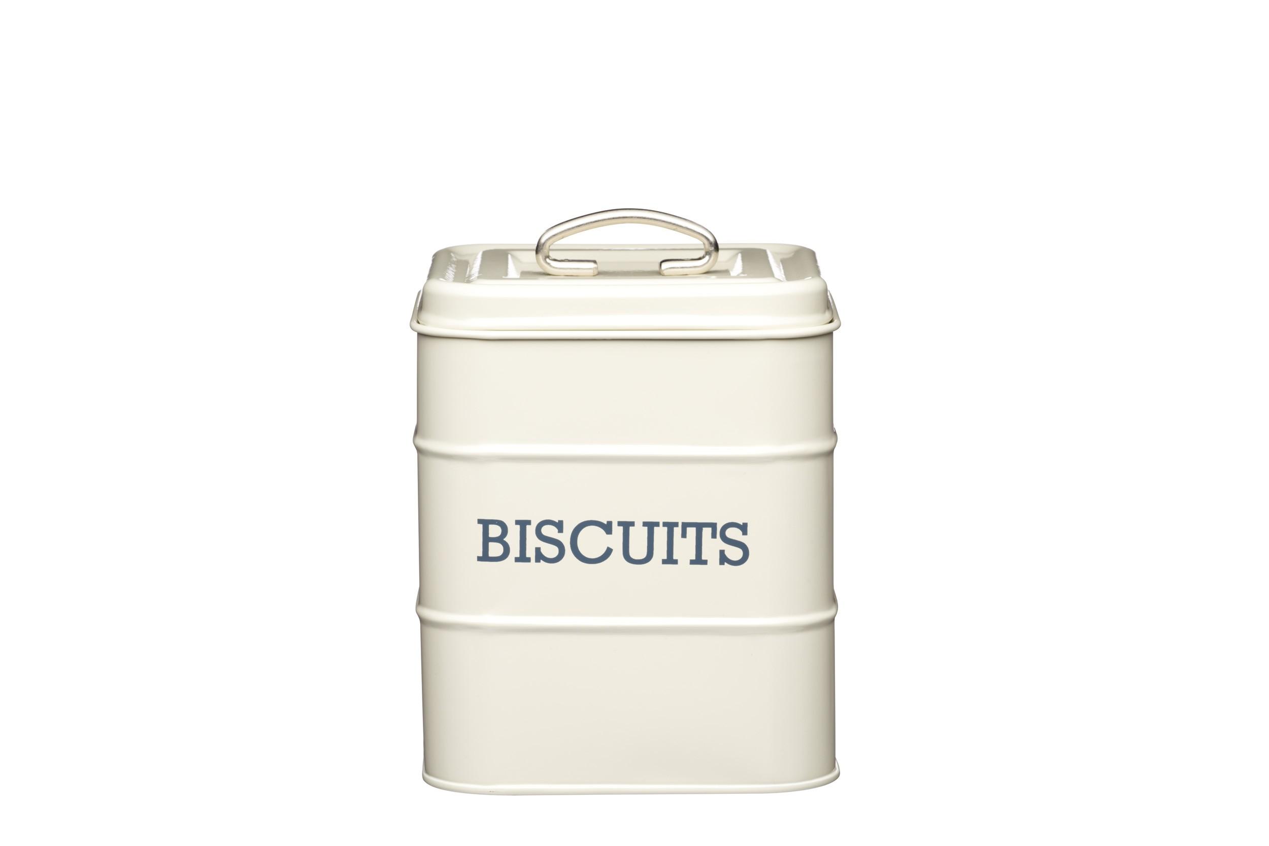 Kitchen Craft Living Nostalgia Biscuit Canister Cream 14.5cm X 19cm