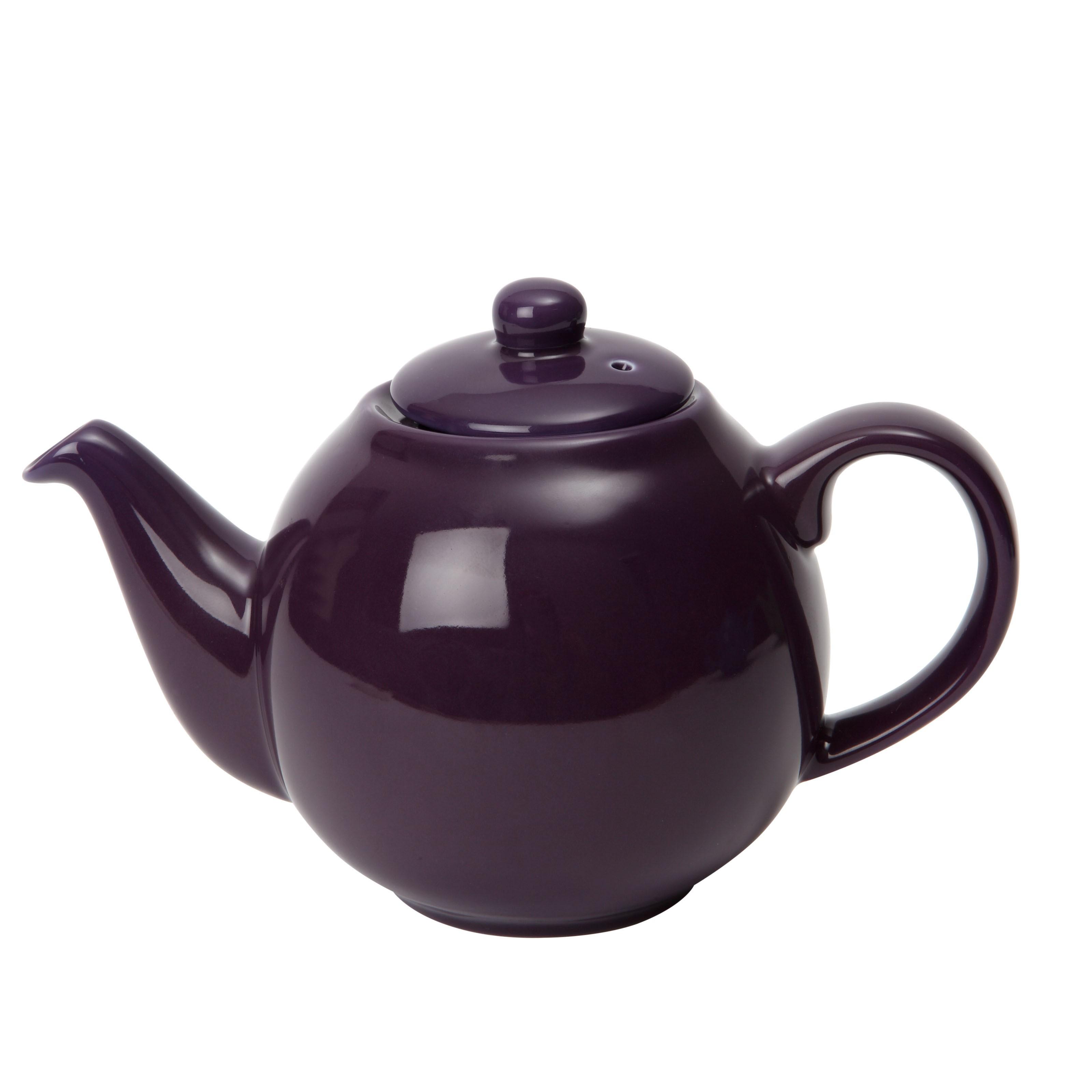London Pottery  6 Cup Plum Purple Globe Teapot