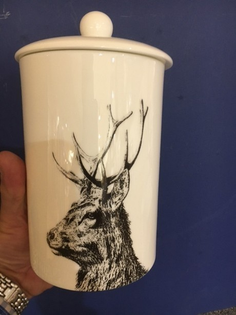 Buy the fine bone china Little Art Weavers Stag Storage Canister online at smithsofloughton.com