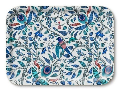 Buy the 29cm Jamida Emma J Shipley Rousseau Blue Lap Tray online at smithsofloughton.com