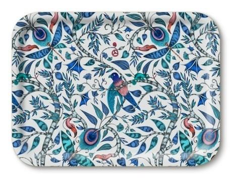 Buy the 43cm Jamida Emma J Shipley Rousseau Blue Lap Tray online at smithsofloughton.com