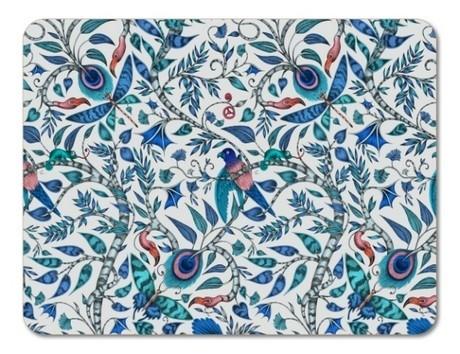 Buy the 29cm Jamida Emma J Shipley Rousseau Blue Placemat online at smithsofloughton.com