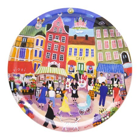 Buy the Bessie Johanson - Stockholm in my heart - circular tray 39cm online at smithsofloughton.com