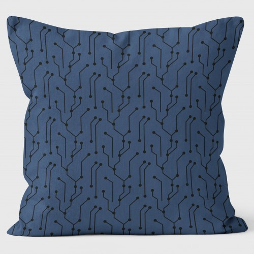 Buy the Circuit Board Blue Cushions 40cm online at smithsofloughton.com