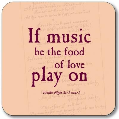 Buy the Customworks If Music be the Food of Love Drinks Coaster online at smithsofloughton.com