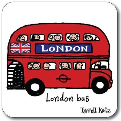 Buy the Customworks London Bus Drinks Coaster online at smithsofloughton.com