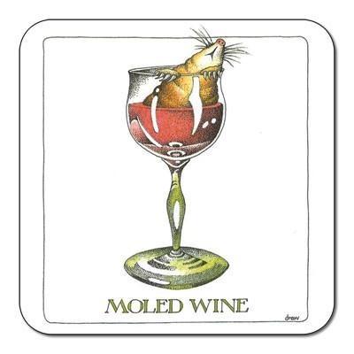 Buy the Customworks Simon Drew Moled Wine Drinks Coaster online at smithsofloughton.com