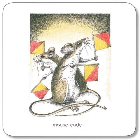 Buy the Customworks Simon Drew Mouse Code Drinks Coaster online at smithsofloughton.com