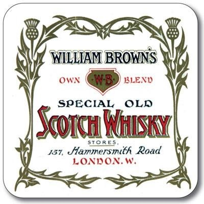 Buy the Customworks William Brown's Whisky Drinks Coaster online at smithsofloughton.com
