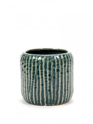 Buy the Serax Swamp Grey Rib Pot online at smithsofloughton.com