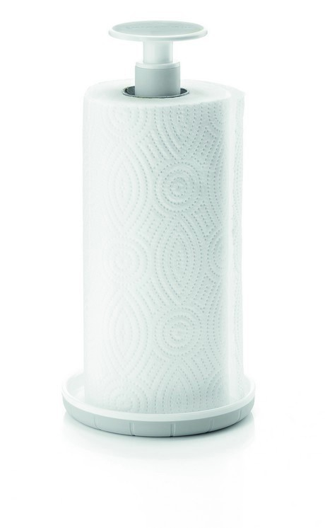 Buy the Guzzini Kitchen Roll Holder Grey online at smithsofloughton.com