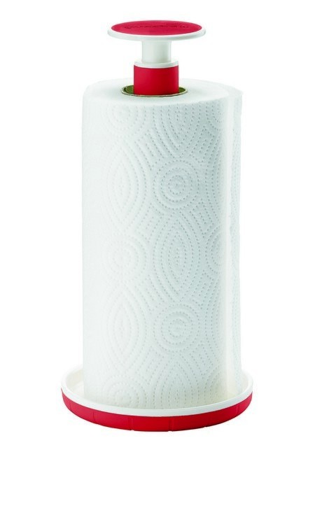 Buy the Guzzini Kitchen Roll Holder Red online at smithsofloughton.com