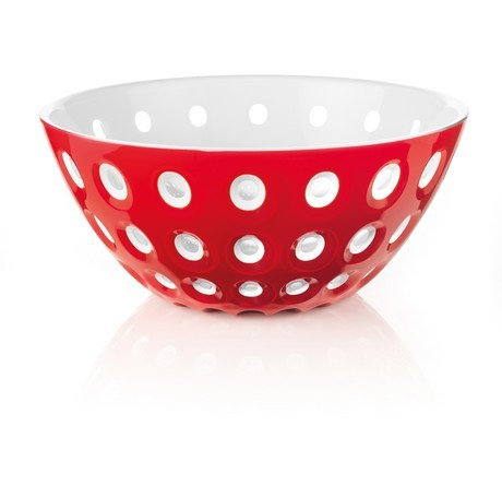 Buy the Guzzini Le Murrine Bowl 25cm Red White online at smithsofloughton.com