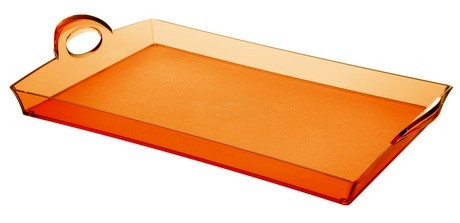 Buy the Guzzini Orange Rectangular Tray online at smithsofloughton.com
