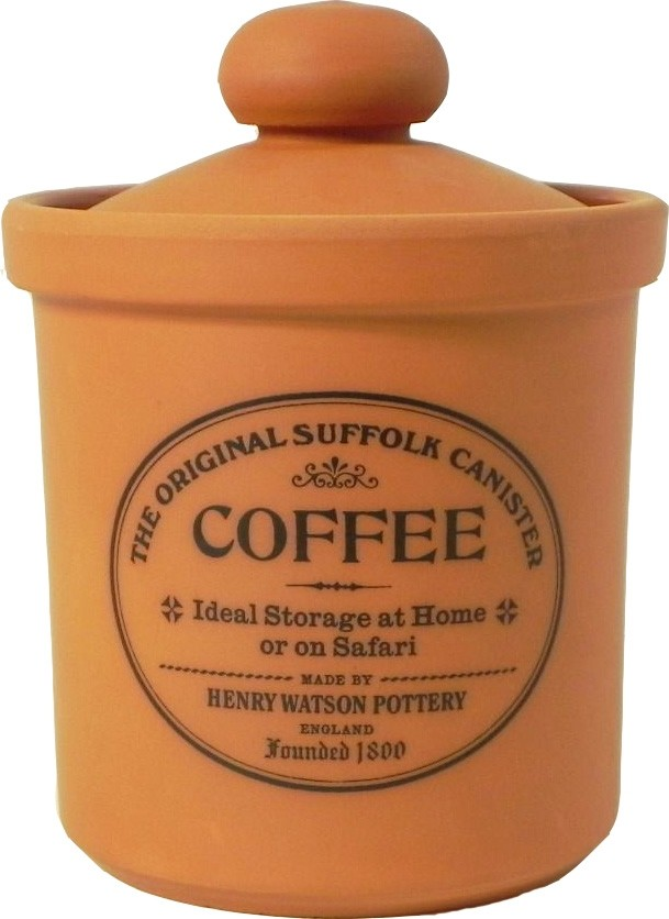 Buy the Henry Watson's Original Suffolk Terracotta Rimmed Coffee Canister online at smithsofloughton.com