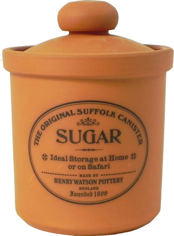 Buy the Henry Watson's Original Suffolk Terracotta Rimmed Sugar Canister online at smithsofloughton.com