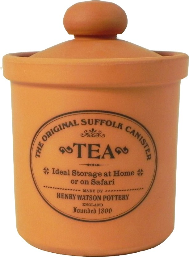 Buy the Henry Watson's Original Suffolk Terracotta Rimmed Tea Canister online at smithsofloughton.com