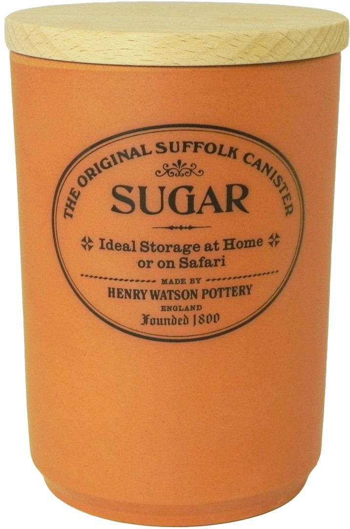 Buy the Henry Watson's Original Suffolk Terracotta Sugar Canister Beech Lid online at smithsofloughton.com