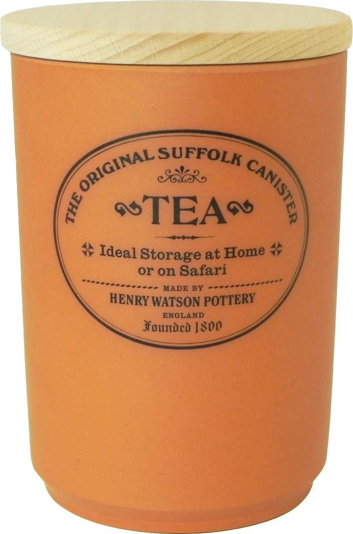 Buy the Henry Watson's Original Suffolk Terracotta Tea Canister Beech Lid online at smithsofloughton.com