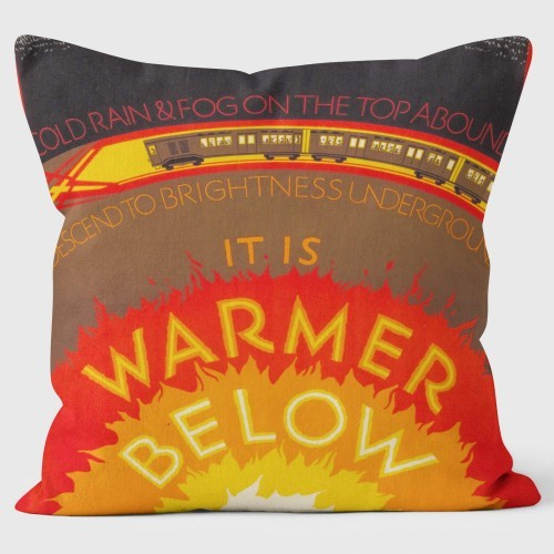 Buy the It's Warmer Below London Transport Cushions 40cm online at smithsofloughton.com