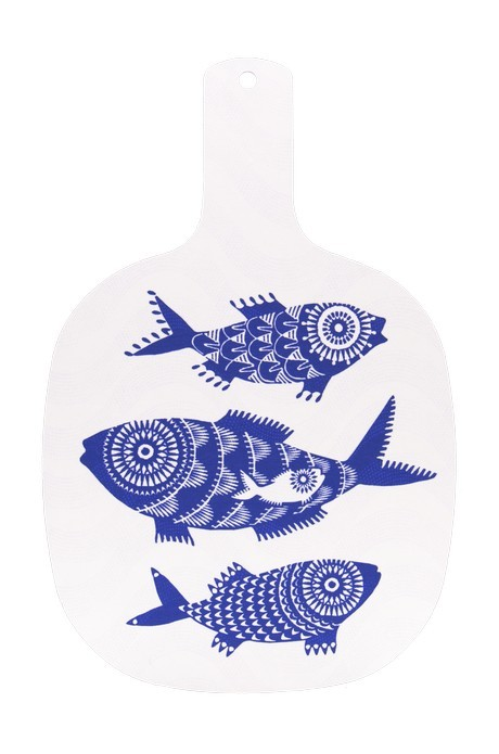 Buy the Jamida Asta Barrington Shoal of Fish White Chopping Board online at smithsofloughton.com