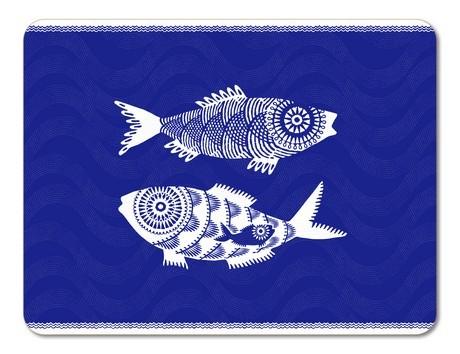 Buy the Jamida Asta Barrington Shoal of Fish Blue Tablemat online at smithsofloughton.com
