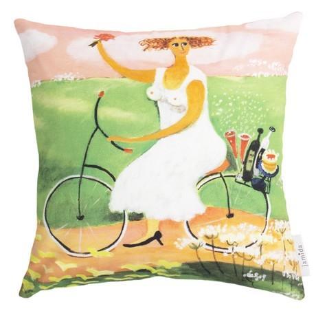 Buy the Jamida Bessie Johanson My Day Off Cushion 48x48cm online at smithsofloughton.com