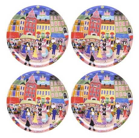 Buy the Jamida Bessie Johanson Stockholm in My Heart 4pc Coasters 11cm online at smithsofloughton.com