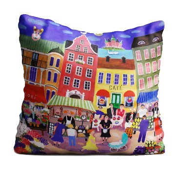 Buy the Jamida Bessie Johanson Stockholm in my Heart Cushion online at smithsofloughton.com