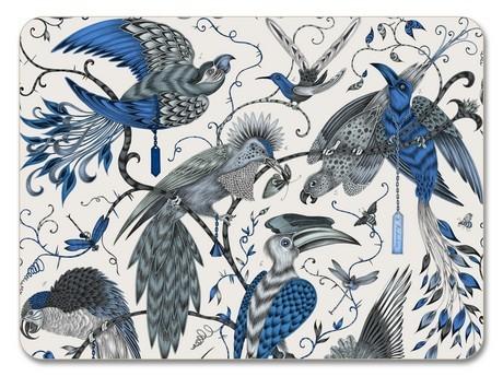 Buy the Jamida Emma J Shipley Audubon Blue Placemat 29cm online at smithsofloughton.com