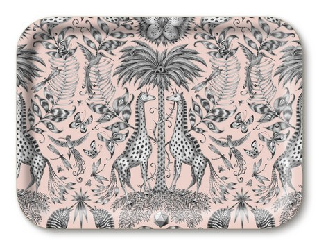 Buy the Jamida Emma J Shipley Kruger Pink Tray 27x20cm online at smithsofloughton.com