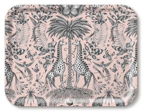 Buy the Jamida Emma J Shipley Kruger Pink Tray 43x33cm online at smithsofloughton.com