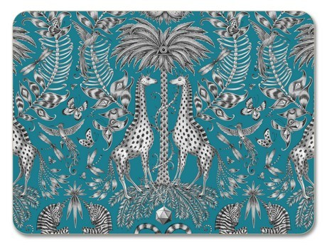 Buy the Jamida Emma J Shipley Kruger Turquoise Placemat 29cm online at smithsofloughton.com