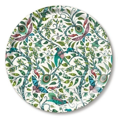 Buy the Jamida Emma J Shipley Lime Rousseau Round Drinks Tray online at smithsofloughton.com