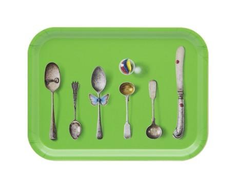 Buy the Jamida Michael Angove - Cutlery Green Tray 27x20cm online at smithsofloughton.com