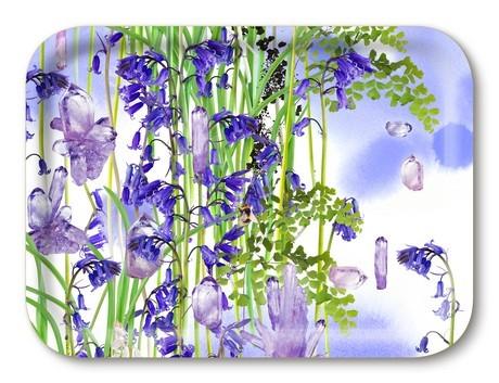 Buy the Jamida Michael Angove Bluebell Amethyst Tray 27x20cm online at smithsofloughton.com