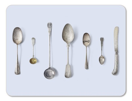 Buy the Jamida Michael Angove Cutlery Blue Placemat 29cm online at smithsofloughton.com