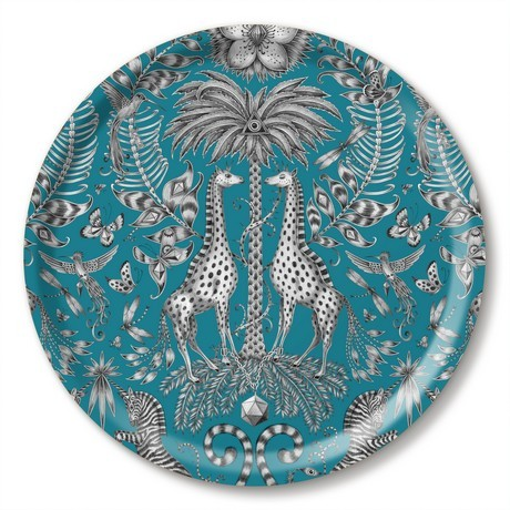 Buy the Jamida Turquoise Emma J Shipley Kruger Tray 39cm online at smithsofloughton.com