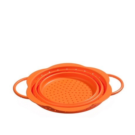 Buy the Kuhn Rikon Kochblume Collapsible Colander Orange 19cm online at smithsofloughton.com