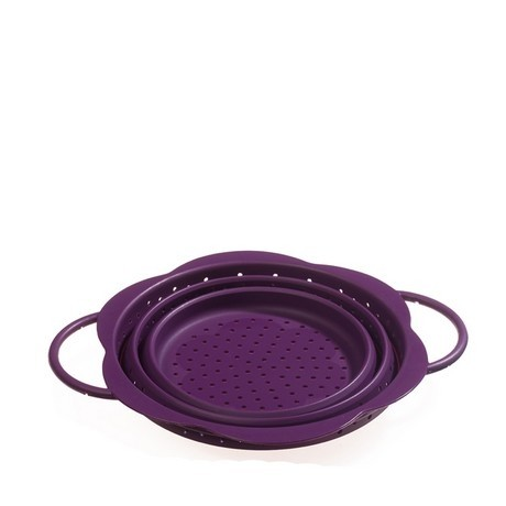 Buy the Kuhn Rikon Kochblume Collapsible Colander Purple 19cm online at smithsofloughton.com