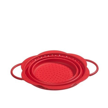Buy the Kuhn Rikon Kochblume Collapsible Colander Red 19cm online at smithsofloughton.com