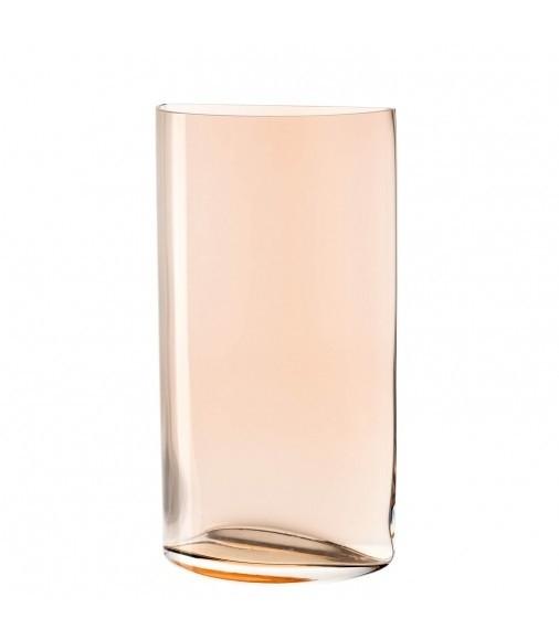 Buy the Leonardo Centro Semicircle Vase Cinnamon 34cm online at smithsofloughton.com