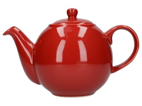 Buy the London Pottery 4 Cup Red GlobeTeapot online at smithsofloughton.com