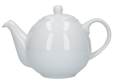 Buy the London Pottery 4 Cup White GlobeTeapot online at smithsofloughton.com