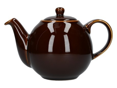 Buy the London Pottery 6 Cup Black GlobeTeapot online at smithsofloughton.com