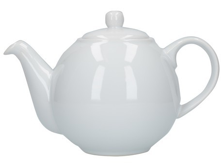 Buy the London Pottery 6 Cup White GlobeTeapot online at smithsofloughton.com