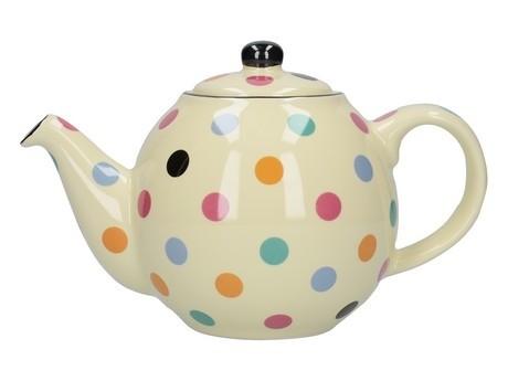 Buy the London Pottery Globe 2 Cup Teapot Multi Spot online at smithsofloughton.com