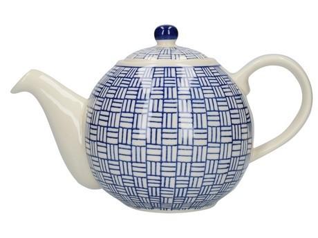 Buy the London Pottery Globe 4 Cup Teapot Blue Lattice online at smithsofloughton.com
