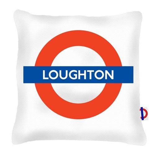 Buy the Loughton Tube Station Cushions 45cm online at smithsofloughton.com